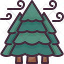 Pine Tree Forest Woodland Icon