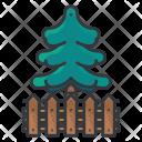 Pine Tree Fence Icon