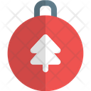 Pine Tree Bauble Ball Icon