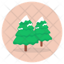 Pine Trees Winter Trees Snow Covered Trees Icon