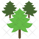 Pine Trees Forest Icon
