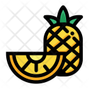 Half Pineapple Fruit Icon