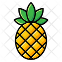 Aggregate Fruit Pineapple Ananas Comosus Icon