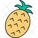 Pineapple Healthy Food Juicy Fruit Icon