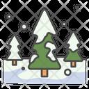 Winter Pine Tree Icon