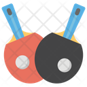 Table Tennis Ping Pong Table Paddle Icon