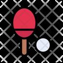 Pingpong Tennis Racket Icon