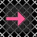 Pink Arrow On Striped Backdrop Icon