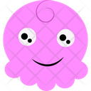 Pink Cartoon Icon