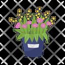 Pink Flower Bucket Icon