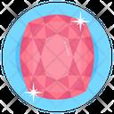 Gemstone Pink Gem Emerald Icon