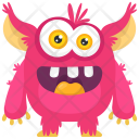 Pink Beast Colorful Icon