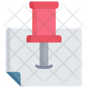Pinned Document Icon