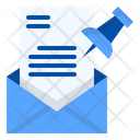 Pinned Mail Document Icon