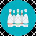Pins Bowling Sport Icon