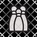 Pins Bowling Bowl Icon