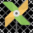 Pinwheel Paper Windmill Icon
