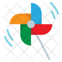Toy Wind Pinwheel Icon