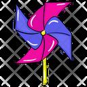 Pinwheel Toy Wheel Kids Toy Icon