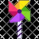 Pinwheel Paper Windmill Toy Icon