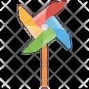 Pinwheel Turbine Toy Colorful Toy Icon