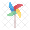 Pinwheel Wind Toy Icon