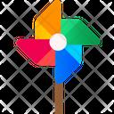 Pinwheel Kids Pinwheel Paper Windmill Icon