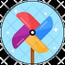 Whirligig Pinwheel Paper Windmill Icon