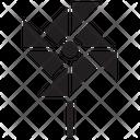 Pinwheel Fan Icon