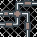 Pipe Clogged Drain Icon