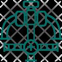 Gas Pipe Valve Icon