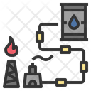 Pipeline Industry Fuel Icon
