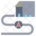 Pipeline Transportation Transportation Commerce Icon