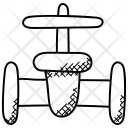 Gas Pipeline Valve Icon