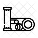 Pipes Grid Armature Icon