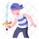 Sword Pirate Saber Icon