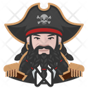 Pirate Caucasian Man Icon