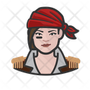Pirate Woman Caucasian Icon