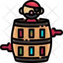 Pirate Pirates Barrel Barrel Icon