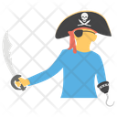 Pirate Attacker Aggressor Swordsman Icon