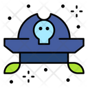 Pirate Bandana Hat Skull Icon