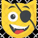 Pirate Eyepatch Emoticon Icon