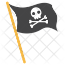 Pirate Flag Pirate Symbol Black Flag Icon