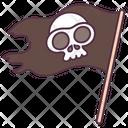 Pirate Flag Banner Emblem Icon