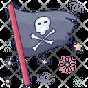 Pirate Flag Caribbean Label Criminal Icon