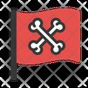 Symbol Flag Pirate Icon