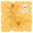 Pirate Map Chart Location Icon