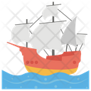 Pirate Ship Pirate Boat Pirate Sloop Icon
