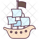 Pirate Ship Sailboat Yacht Icon