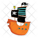 Pirate Ship Pirate Boat Ship Icon